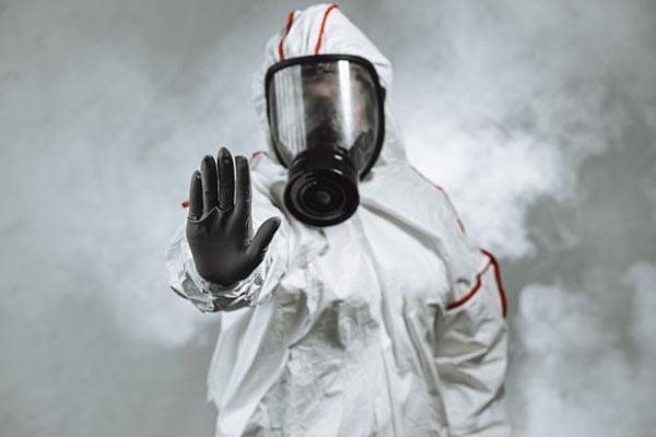 Cleanroom Team Member In Mask