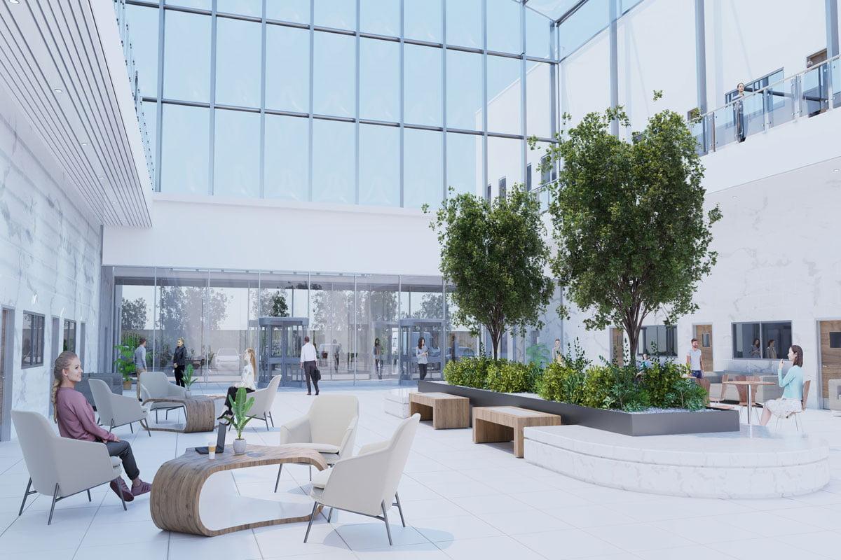 Offsite Construction Healthcare-Facility-Atrium